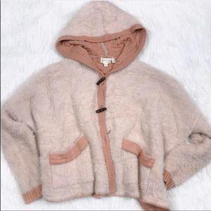 Mistic Prysm Mohair Hooded Fuzzy Sweater Cardigan